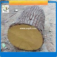 Wholesale UVG unique decoration ideas artificial tree stump with fiberglass material for garden landscaping from china suppliers
