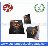 Wholesale Black Recyced Die Cut  Plastic Bags With Logo Printing , Customized from china suppliers