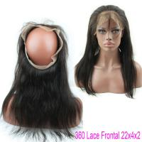 Wholesale Brazilian Virgin Straight Hair Lace Closure Natural Hair 360 Lace Band With Baby Hair from china suppliers