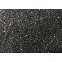 Quality 540G/M Fashion 30% Wool Rayon Blend Fabric Black For Autumn Jackets for sale