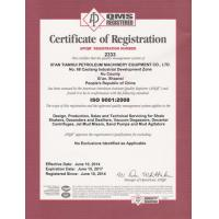 XI'an Tianrui Petroleum Machinery equiment Co.Ltd Certifications