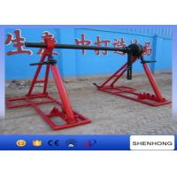 Wholesale 5 Ton Conductor Cable Reel Jack Stands 80M / Min With Disc Brake from china suppliers