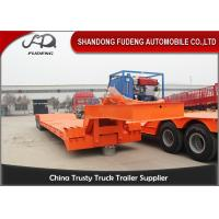 Wholesale 2 / 3 / 4 Axle Detachable Gooseneck Trailer For Heavy Duty Machinery Transport from china suppliers