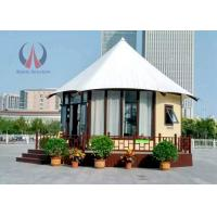 Wholesale Fire Retardant Large Permanent Glamping Tents , Eco Material Permanent Tent Homes from china suppliers