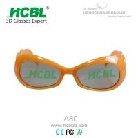 Wholesale Baby Size Circular Polarized Reald Kid 3D Glasses Yellow , Size 130*120*45mm from china suppliers