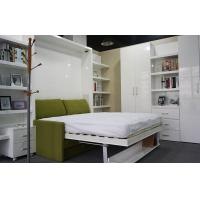 Wholesale Home Use Functional Fashional Double Wall Bed With Sofa And Bookshelf , Color White from china suppliers