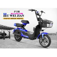 Wholesale 3 Speed Simple Adult Electric Bike Pedal Scooter Blue Color For Long Range from china suppliers