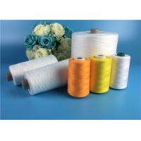 Wholesale Eco - Friendly 100 Spun Polyester Yarn S Twist And Z Twist Yarn Raw White Bright from china suppliers