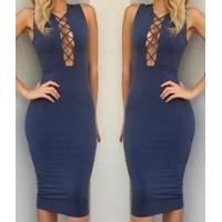 Wholesale Fashion Colorful Long Sleeve Bandage Dress Slim Sexy Skirt in Winter from china suppliers