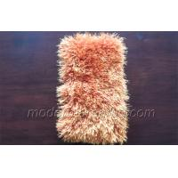 Wholesale Light Orange Polyester Shaggy Area Rug, Play Room Rugs With Customized Shape from china suppliers