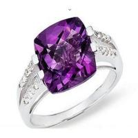 Buy cheap Amethyst diamond ring from wholesalers