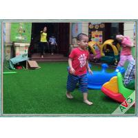 Wholesale Non Infill Needed Durable Playground Synthetic Grass Mat Synthetic Turf Soft Grass For Kids from china suppliers