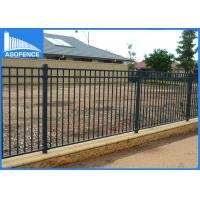 Wholesale Powder Painted Q235 Steel Panel Fence , Heavy Duty Industrial Security Fencing from china suppliers