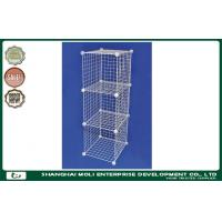 Wholesale Heavy Duty Equipment Galvanized stackable wire storage baskets , shelves for Retail store from china suppliers
