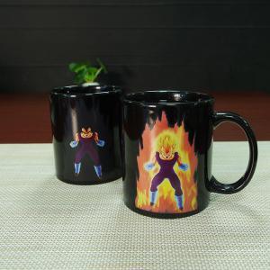 Buy cheap Unique Dragon Ball Color Changing Mug Vegeta Black Ceramic Magic Mug Eco Friendly Ceramic Mugs Heat Sensitive from wholesalers