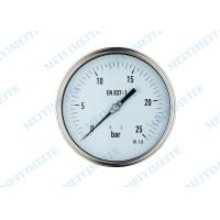 Wholesale Low pressure air gauge , welding oil filled pressure gauge with shrink bayonet bezel from china suppliers