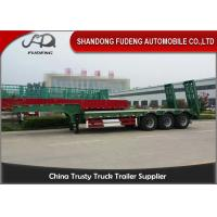 Wholesale 30 Ton - 60 Ton -100 Tons Customized Lowboy Semi Trailers / Drop Bed Low Loader Trailer from china suppliers