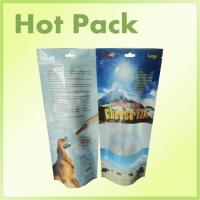 Wholesale Resealable Disposable Stand Up Pet Food Packaging Pouch With Clear Window from china suppliers