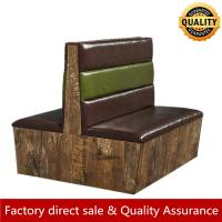 China loft unique wood leather booth seating for restaurant bar stylish custom made size shape booth seating double side booth on sale