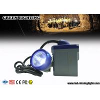 Buy cheap 6.6Ah Battery Brass Miners Rechargeable Led Headlight with Blue PC Bezel 10000lux Main LED from wholesalers