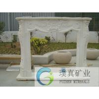 Wholesale High quality natural decorative carved white Marble Fireplace Surround Mantel from china suppliers