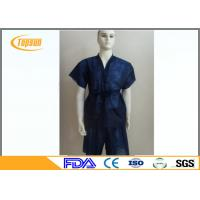 Buy cheap Blue Non Woven Disposable SPA Sauna Bathrobes , Kimono Sauna Suit Gown For SPA from wholesalers