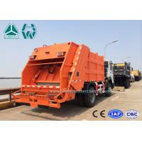 Quality 6 - 12 CBM HOWO 4 X 2 Garbage Compactor Trucks With Hydraulic Cylinder , 10 Forwards Gearbox for sale