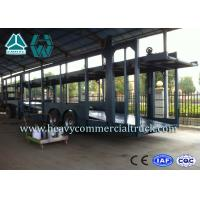 Wholesale Double Layer Car Transport Trailers Carbon Steel 2 Axles Car Carrying Trailers from china suppliers