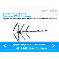 Wholesale High Sensitivity UHF Digital TV Antenna , Wireless Yagi Uda Antenna 470Mhz ~ 862Mhz from china suppliers