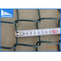 Wholesale 2-3mm Galvanised Chain Link Fencing , PVC Coated Diamond Wire Mesh from china suppliers