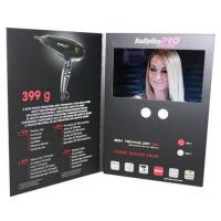 Quality Advertising promotional lcd video greeting card with Magnetic switch , ON / OFF button switch for sale