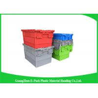 Wholesale Nestable heavy duty plastic storage containers with attached lids stackable from china suppliers