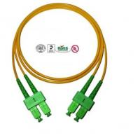 Wholesale Single Mode SC Fibre Optic Patch Cords APC , Full Duplex Fiber Optic Cable from china suppliers