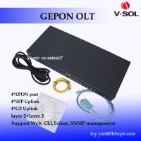 Buy cheap 4 port GEPON OLT most popular 4 PON OLT layer 3 uplink 4GE 4SFP optic network from wholesalers