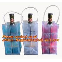 Wholesale Clear pvc wine bag pvc ice bag for bottle packing, cosmetic recyclable transparent heat seal side gusset make upclear from china suppliers