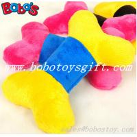 Wholesale 2 color softest plush stuffed bone pet dog toy with squeaker from china suppliers