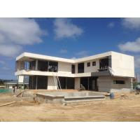 Quality 2 Story  , flat roof , Uruguay prefabricated light steel house , Light Steel Frame Houses for sale