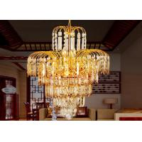 Wholesale Gold Tree Honeysuckle Luxury Crystal Chandelier Lamp D420*H560* Chain L 350mm from china suppliers