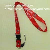 Wholesale High graded nylon badge lanyard with rivet and ABS release buckle from china suppliers