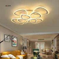 Wholesale Modern acrylic LED ceiling light Overlapping frames large luxury ceiling lamp for living dining bed room luster avize from china suppliers