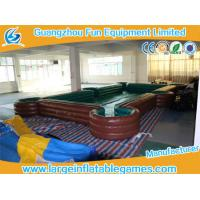 Quality 10*6*0.6m Inflatable Sport Games billiard field  0.4mm PVC Tarpaulin snookball table for sale