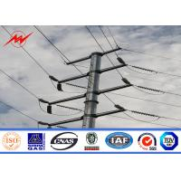 Wholesale 35FT NEA Standard Steel Power Pole 69kv Transmission Line Metal Power Poles from china suppliers