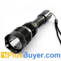 Wholesale CREE XML U2 White Light LED Flashlight (550 Lumens, Waterproof, 500 Meters Range) from china suppliers