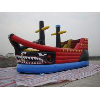 Wholesale Giant Inflatable Fairground In Pirate Ship Design With Logo Printed For Kids from china suppliers
