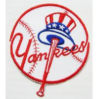 Wholesale MLB Baseball New York Yankees Embroidered Iron On Patch from china suppliers