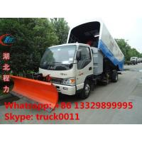 Wholesale high quality and best price JAC brand Vacuum sweeper truck with snow removal for sale, factory sale JAC Small diesel swe from china suppliers