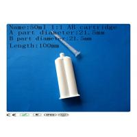 Wholesale AB glue cartridge , 50ml 1:1 dual cartridge , Syringe Barrel from china suppliers