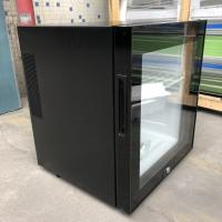 China Black Or White Hotel Mini Bar Fridge With Table Top Glass Door / Adjustable Shelves on sale