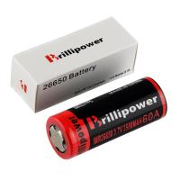 Wholesale Brillipower Black IMR 26650 3500mAh 3.7V LI-MN Rechargeable Battery , BUTTON Top ,60A High from china suppliers