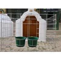 Wholesale Well Ventilated Calf Hutches With Wide Fence , Draught Free Calf Shelters from china suppliers